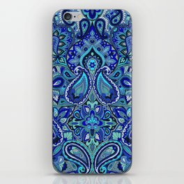 Paisley Blue iPhone Skin