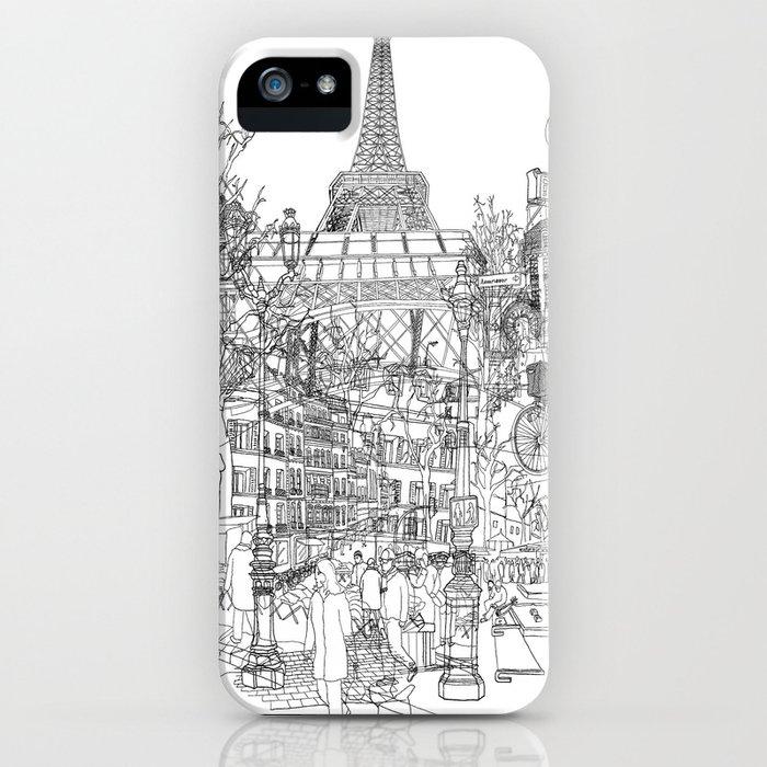 Paris! B&W iPhone Case