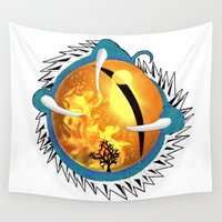 skyfall Wall Tapestries featuring Skyfall Dragon's Eye by Pr0l0gue