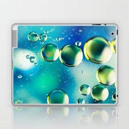 Macro Water Droplets  Aquamarine Soft Green Citron Lemon Yellow and Blue jewel tones Laptop & iPad Skin