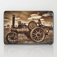 jem iPad Cases featuring Jem General Purpose Engine in sepia by Avril Harris