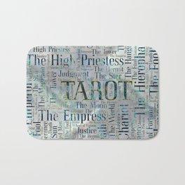 Tarot Major Arcana Word Art  on Pearl Bath Mat