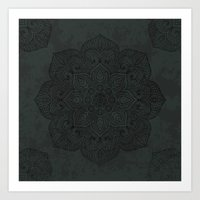 islam Art Prints featuring Vintage Mandala by Mantra Mandala