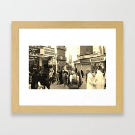 Daily Life in the Souq's Framed Art Print