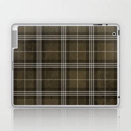 Grungy Brown Plaid Laptop & iPad Skin