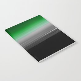 Green Gray Black Ombre Notebook