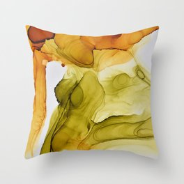 Autumn Ink Composition Throw Pillow