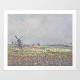 Tulip Fields near The Hague Art Print
