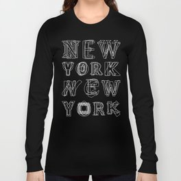 New York black and white Long Sleeve T-shirt