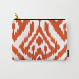 Orange ikat Carry-All Pouch