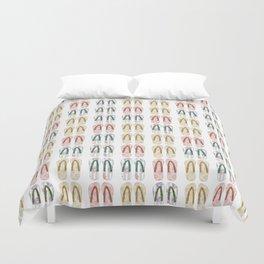 Multi-colored slates, flip-flops Duvet Cover
