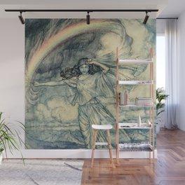 """""""Isis Rainbow Goddess"""" by Arthur Rackham Wall Mural"""