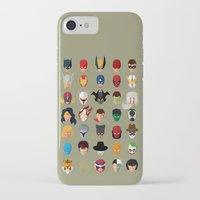 superheroes iPhone & iPod Cases featuring SuperHeroes by Luca Giobbe