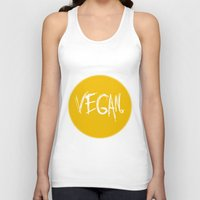 vegan Tank Tops featuring Vegan. by Love Libby X