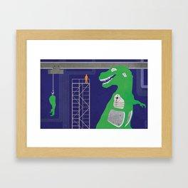 Dino Bot Framed Art Print