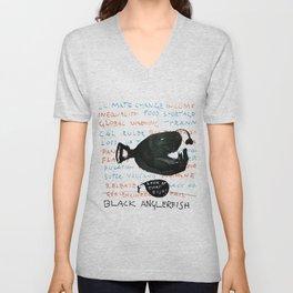 Black Anglerfish Unisex V-Neck