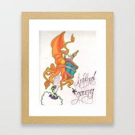 ink gang Framed Art Print
