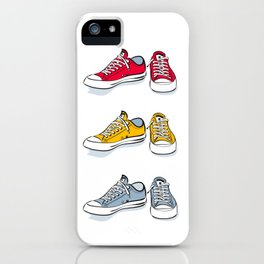 Yellow Sneakers iPhone Case