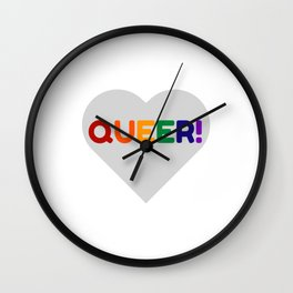 QUEER RAINBOW HEART Wall Clock