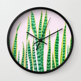snake plant painting Wall Clock