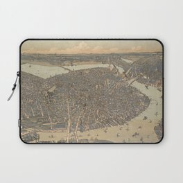 Vintage Pictorial Map of Boston MA (1899) Laptop Sleeve