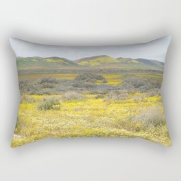 Mega Bloom Central California, Carrizo Plain National Monument Rectangular Pillow