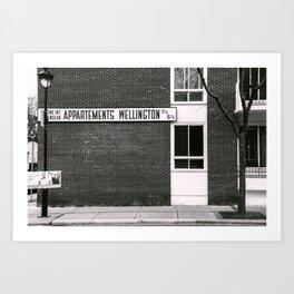 Apartments Wellington Montreal Art Print