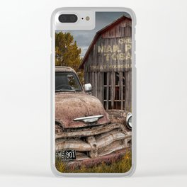 Rusted Pickup Truck with Mail Pouch Tobacco Barn Clear iPhone Case