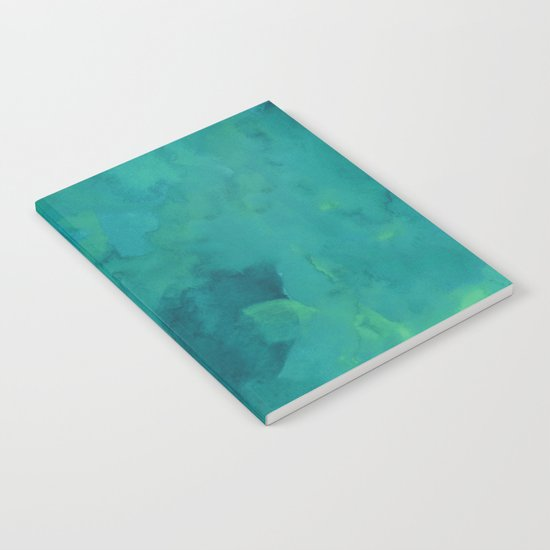 Watercolor green and blue Notebook