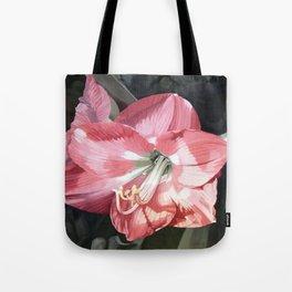Pink Amaryllis Watercolor Botanical Garden Flower Painting Nature Art Tote Bag