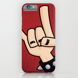 Heavy Metal Devil Horns Hand Sign iPhone Case