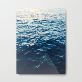 shimmering blue water Metal Print