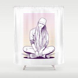Girl skater Shower Curtain