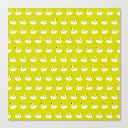 SWANS ((chartreuse)) Canvas Print