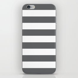 Simply Striped in Storm Gray and White iPhone Skin