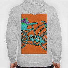 Pop Art Bike With Flower Basket Hoody