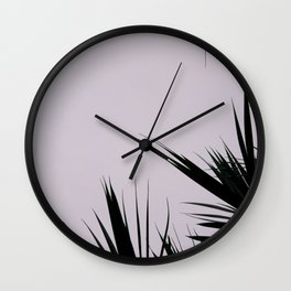 Black leaves 2 Wall Clock