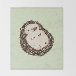 Plump Hedgehog Throw Blanket