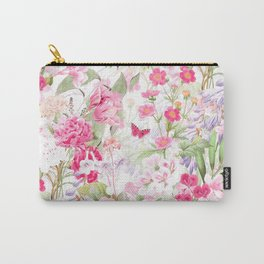Vintage & Shabby Chic - Pastel Spring Flower Medow Carry-All Pouch