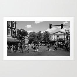 Harvard Square Art Print