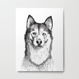 Husky is Your Friend Metal Print