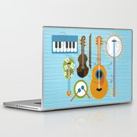 mortal instruments Laptop & iPad Skins featuring Simply Instruments by Paige Design, Inc.