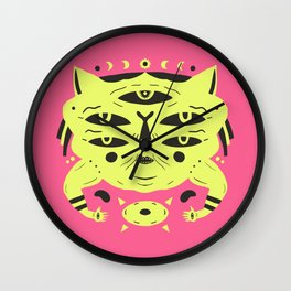 Sand Cat Wall Clock