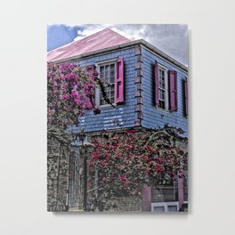 Pink and Blue House, Christiansted, St. Croix, U.S. Virgin Islands 2013 Metal Print