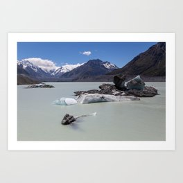 Tasman Lake, NZ Art Print