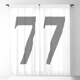 7 (GRAY & WHITE NUMBERS) Blackout Curtain