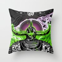 abyss Throw Pillows featuring Abyss  by dethdealer