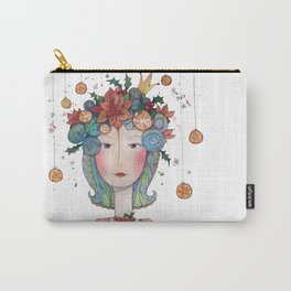 Winter Princes with holly, oranges and poinsettias Carry-All Pouch