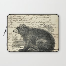 rustic cabin  woodland animal mountain forest grizzly bear Laptop Sleeve