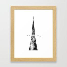 Kuro Noir tower Framed Art Print